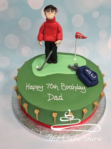Golfing Figure Birthday Cake