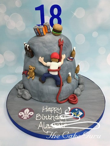 Mountain Climber Birthday Cake