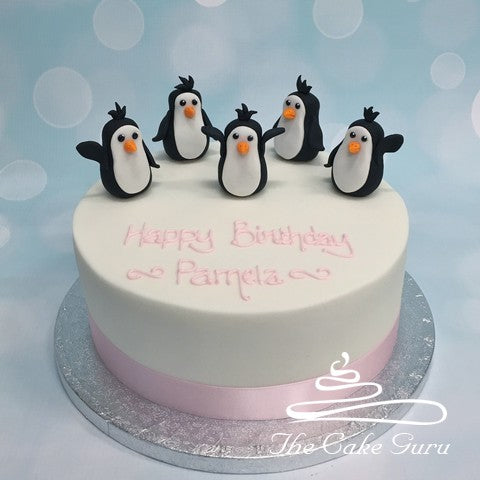 Penguin Parade Birthday Cake