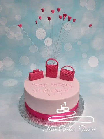 Textured Handbags Birthday Cake