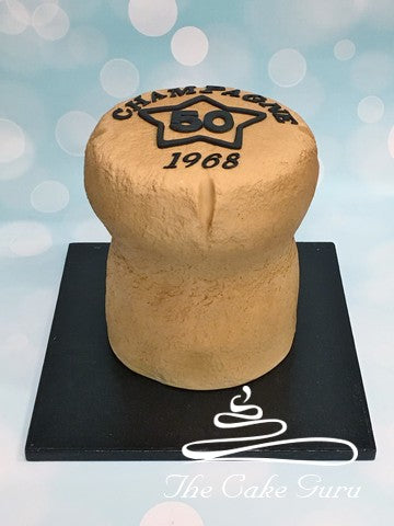 Giant Champagne Cork Birthday Cake