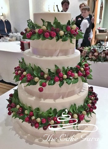 Autumn Berries 6 Tier Wedding Cake