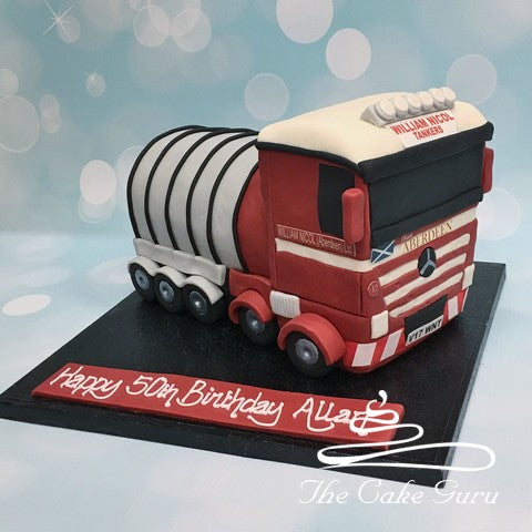 Carved Lorry Birthday Cake