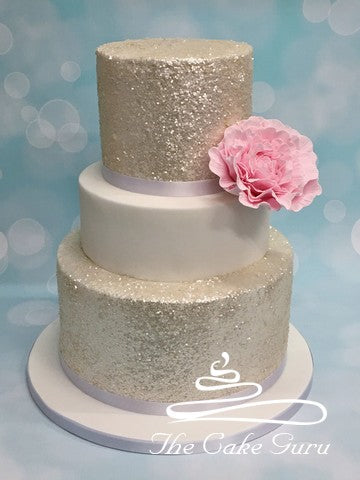Sparkle Tiers Wedding Cake