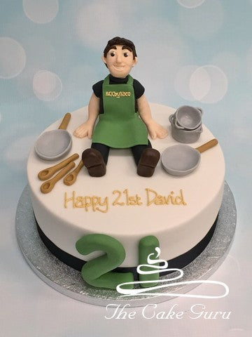 21st Birthday Cake for a Chef