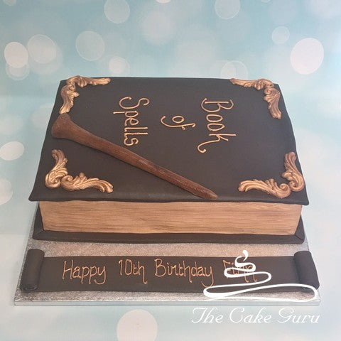 Book of Spells Birthday Cake