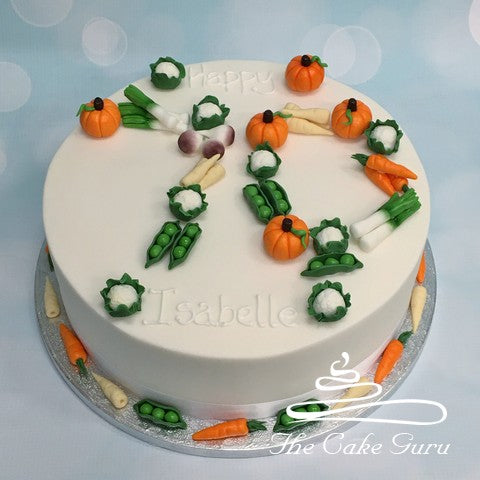Mini Vegetables Birthday Cake