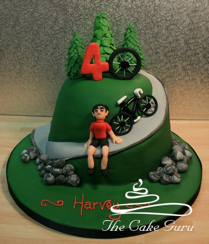 Mountain Cycling Enthusiast Cake