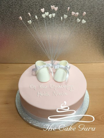 White Booties and Hearts Cake