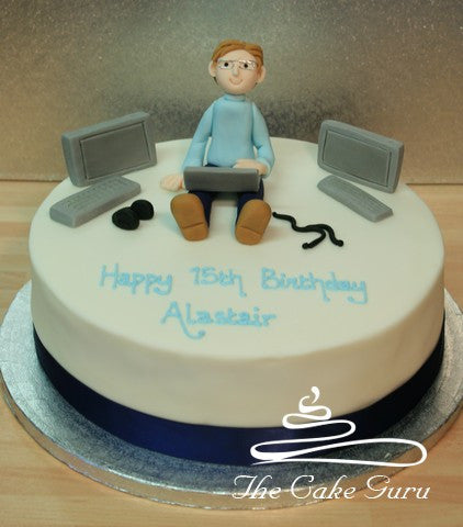 Awesome Computer Geek Cake The Cake Guru Funny Birthday Cards Online Barepcheapnameinfo