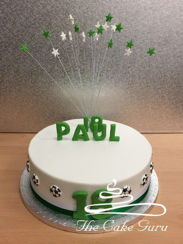 Green/White Football Fan Cake