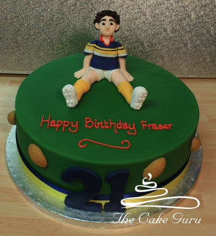 Rugby Player Birthday Cake