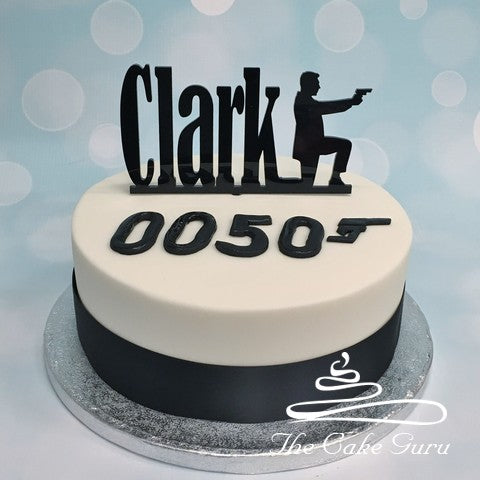 James Bond Inspired Birthday Cake