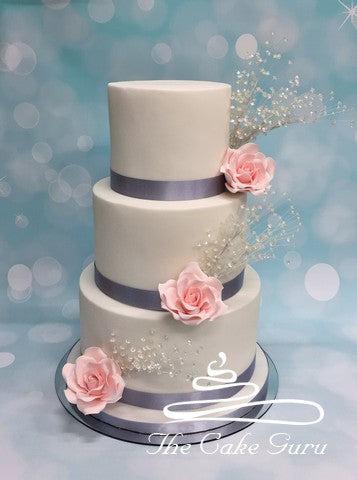 Crystal Sprays Wedding Cake