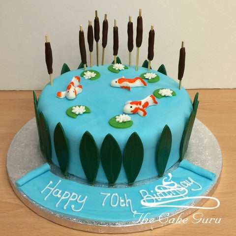 Koi Carp Fish Pond Cake