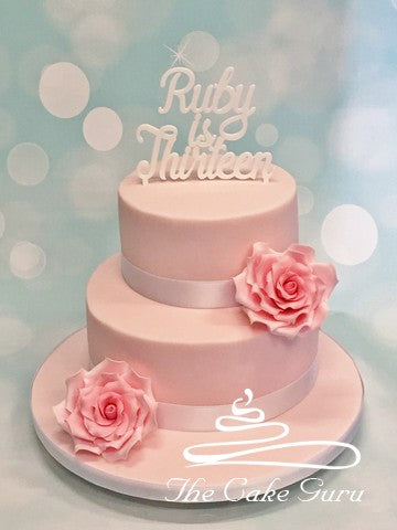 Pastel Pinks Teenage Girl Birthday Cake