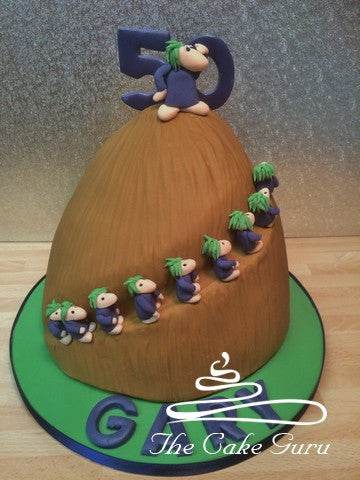 Lemmings Mountain Birthday Cake