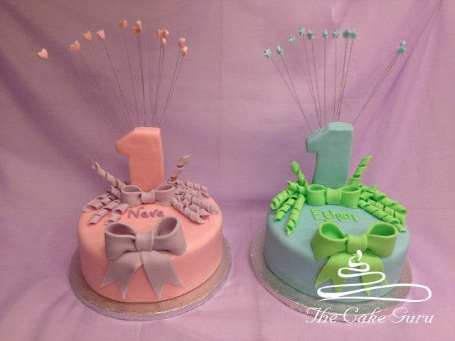 Twin 3D Number One Cakes