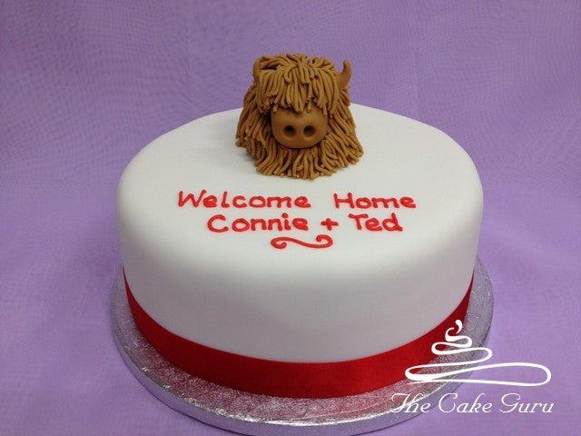 Homecoming Highland Cow Cake