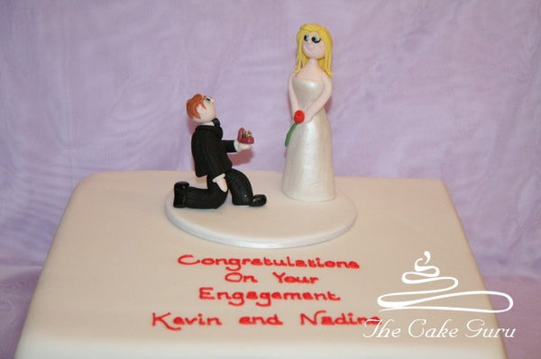 Proposing Figure Engagement Cake