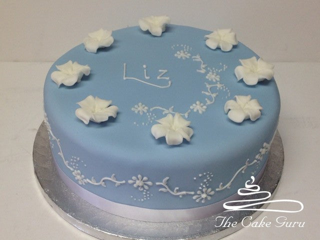 Wedgewood Blue Birthday Cake