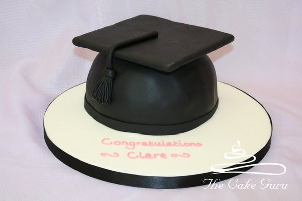 Mortar Board Graduation Cake