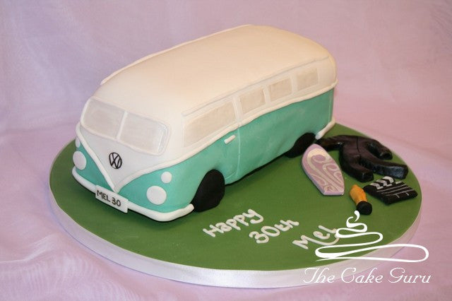 Campervan and Surfing Cake