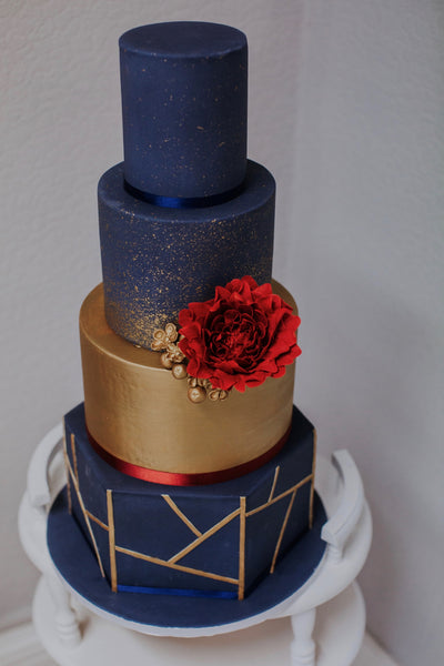 Navy and Gold Colour Splash