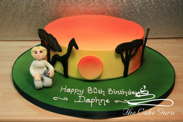 Safari Sunset Cake