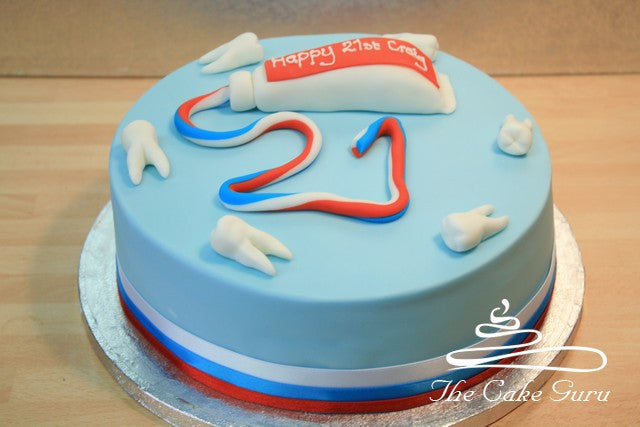 Toothpaste Birthday Cake
