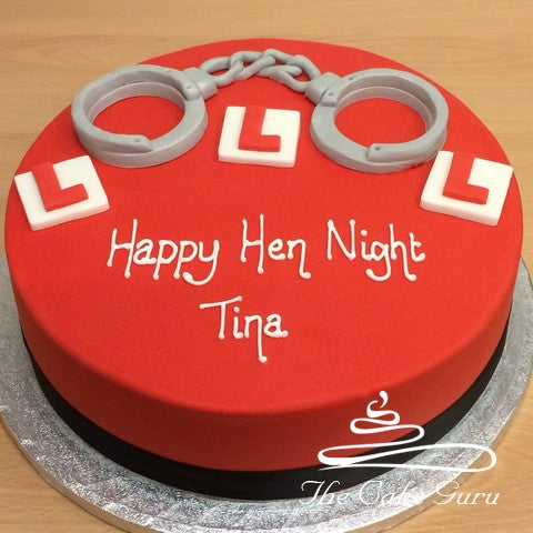 Handcuffs Hen Night Cake