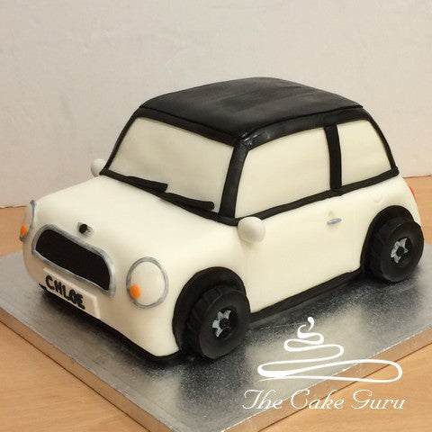 Mini Cooper Carved Cake