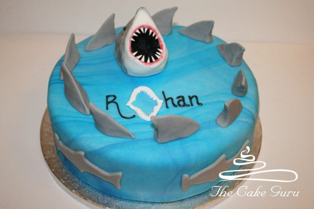 Circling Sharks Birthday Cake