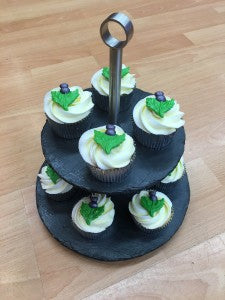 Moulded thistle cupcakes