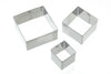 Set of 3 Square Fondant Cutters