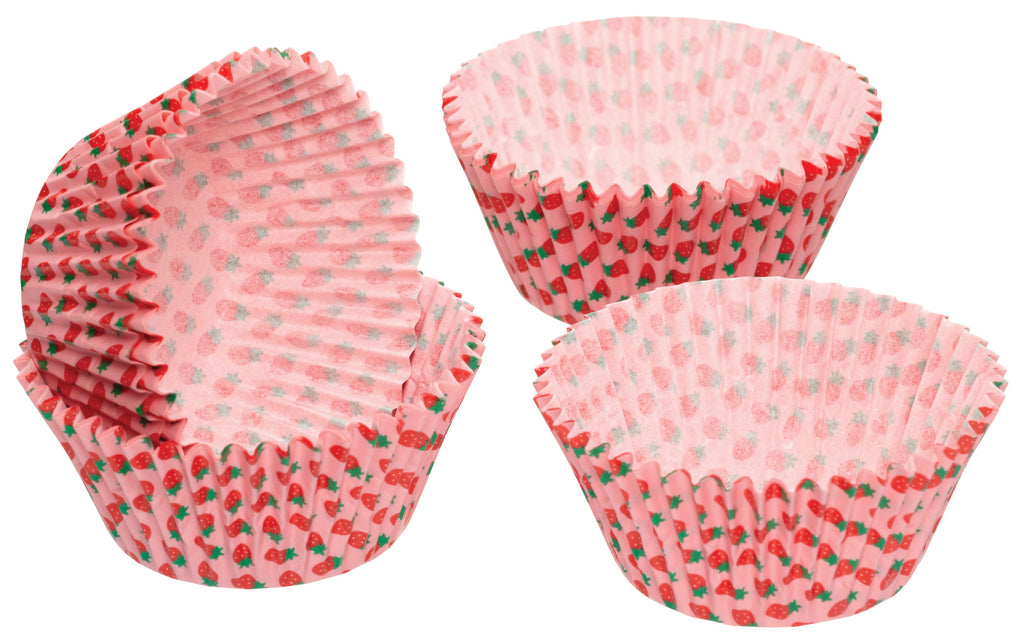 Pack of 60 Strawberry Cupcake Cases