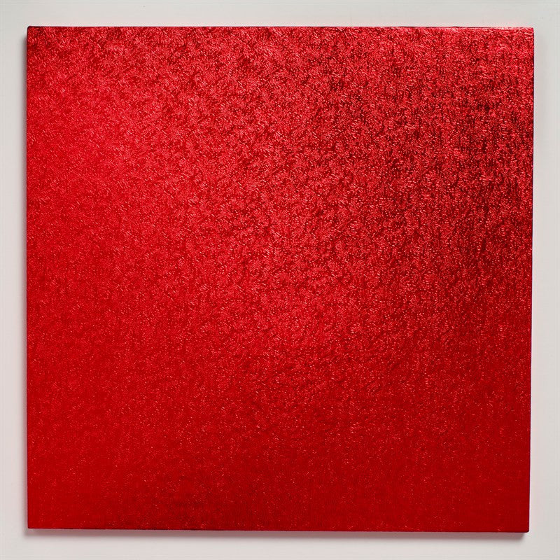12'' (304mm) Cake Board Square Red