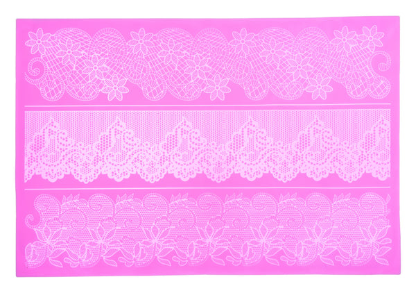 Silicone Large Cake Lace Icing Mould 4 - Flower