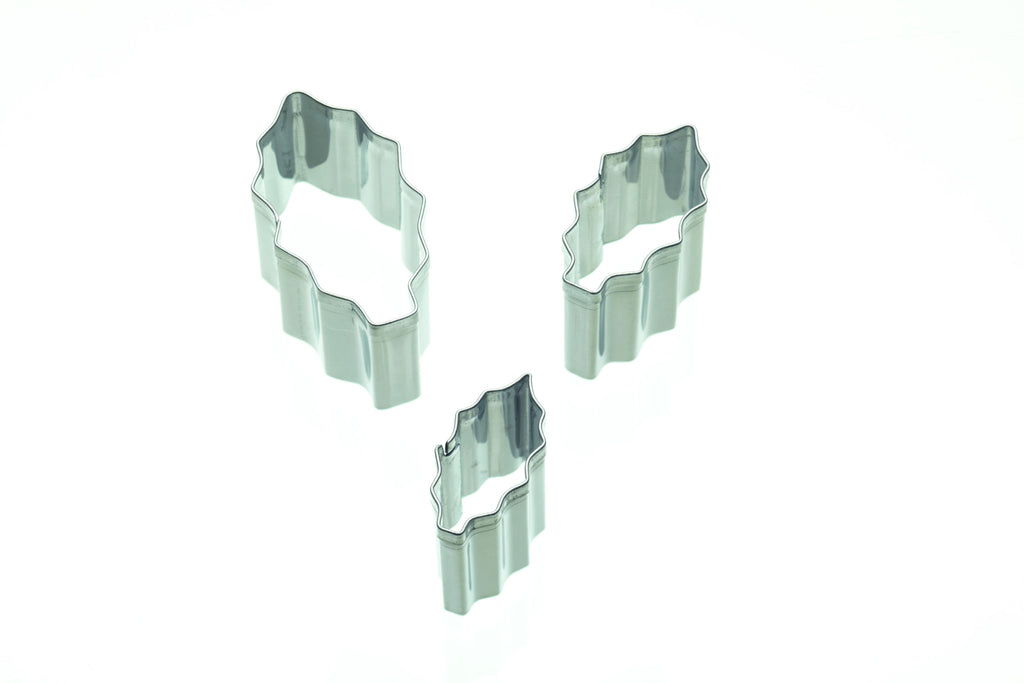 Set of 3 Holly Fondant Cutters