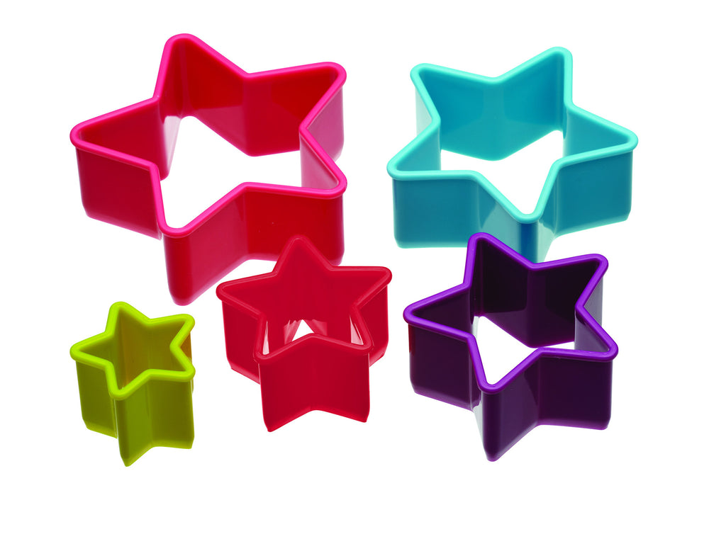 Set of 5 Star Shaped Cookie Cutters