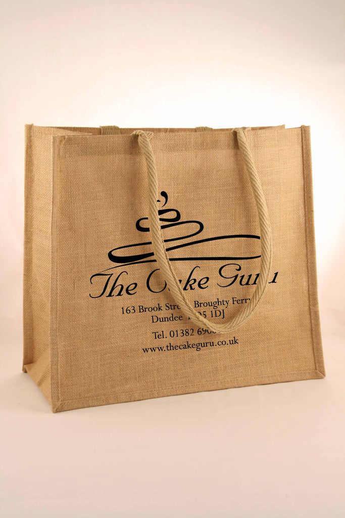 The Cake Guru Jute Shopper