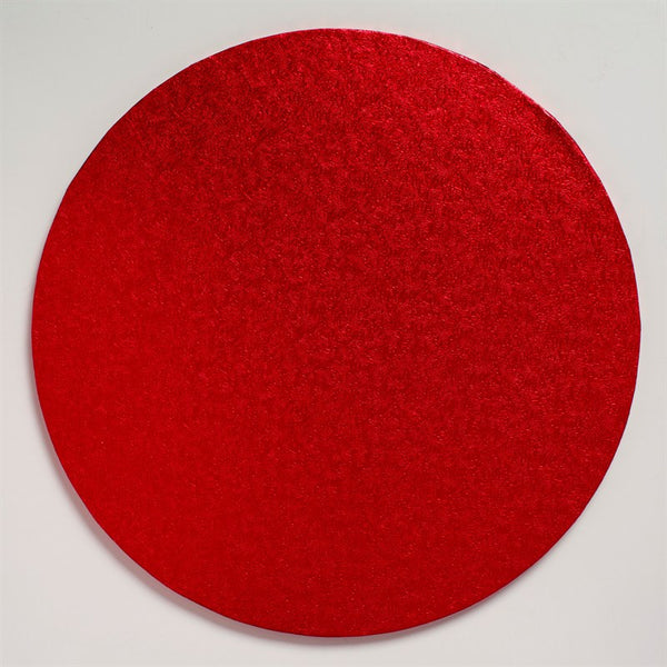 12'' (304mm) Cake Board Round Red