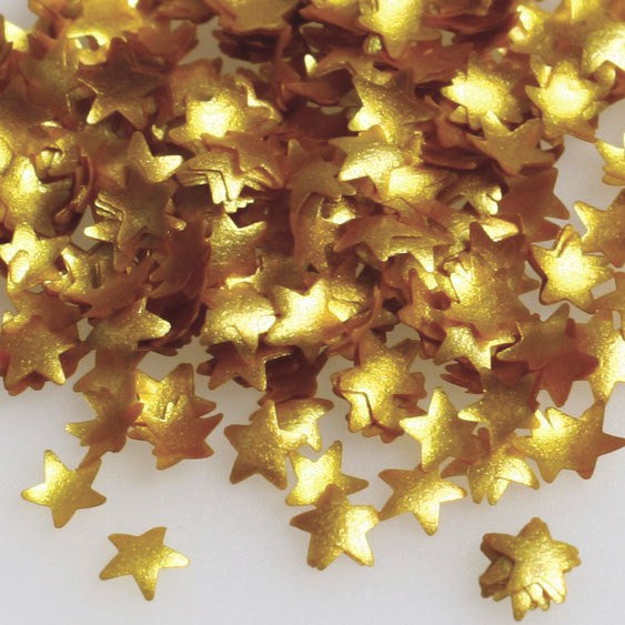 Rainbow Dust Edible Glitter Gold Stars