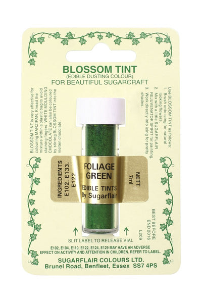 Sugarflair Blossom Tint Dusting Colours – Foliage Green