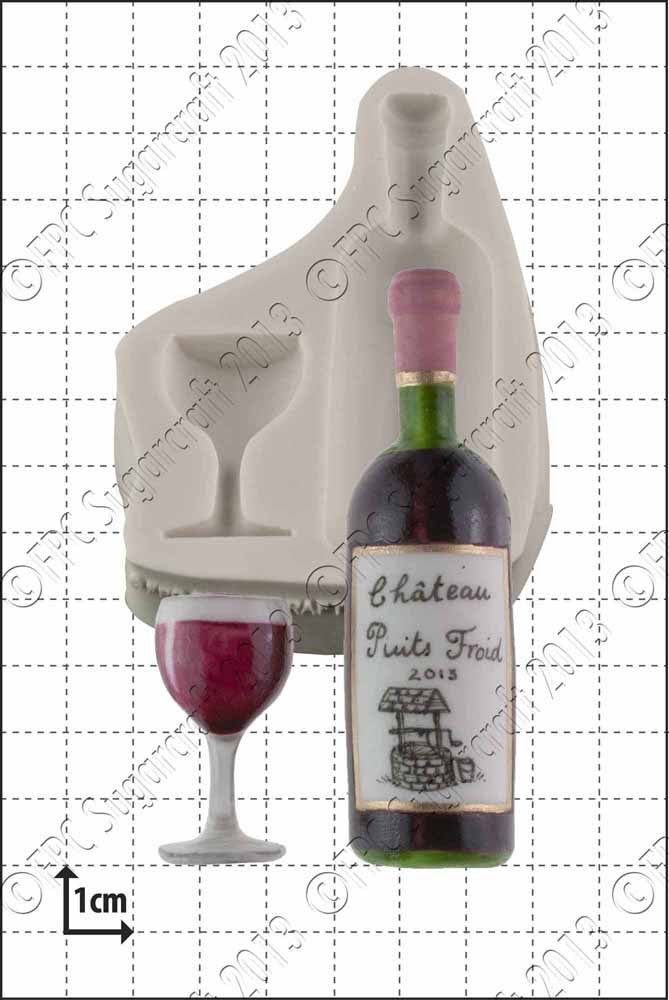 Wine Bottle & Glass Silicone Mould