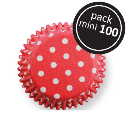 Red Polka Dots Mini Cupcake Cases