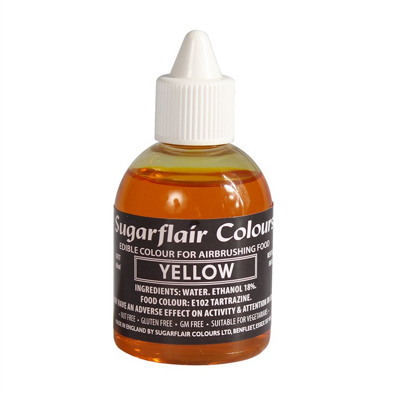 Sugarflair Airbrush Colour - Yellow