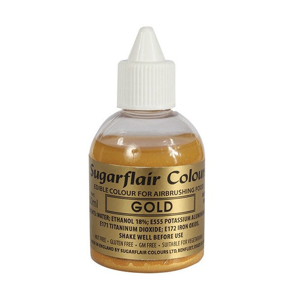Sugarflair Airbrush Colour - Gold