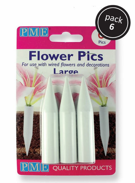 Large Flower Pics - Pack of 6