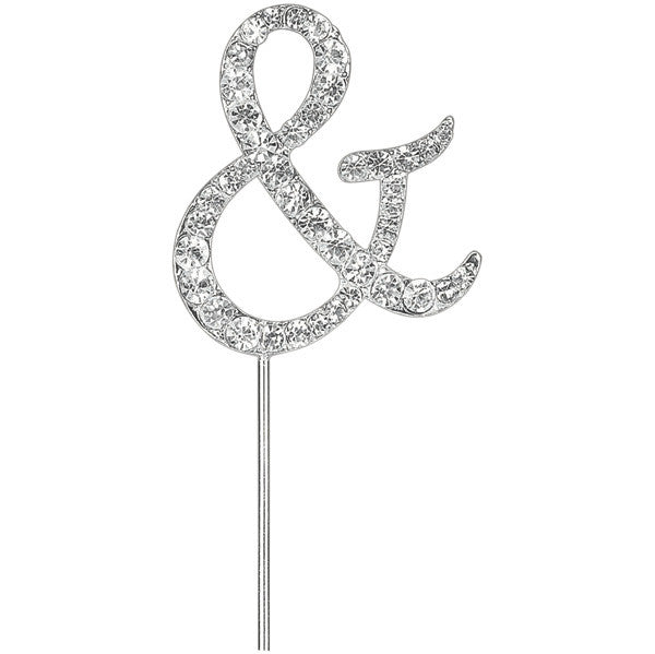 Diamante Cake Pick - Ampersand '&'